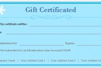 Free Gift Certificate Templates – Customizable And Printable for Custom Gift Certificate Template