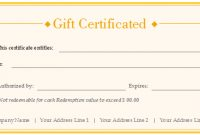 Free Gift Certificate Templates – Customizable And Printable intended for Custom Gift Certificate Template
