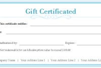Free Gift Certificate Templates – Customizable And Printable throughout Custom Gift Certificate Template