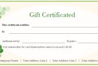 Free Gift Certificate Templates – Customizable And Printable with Custom Gift Certificate Template