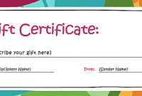 Free Gift Certificate Templates You Can Customize | Free In Microsoft Gift Certificate Template Free Word