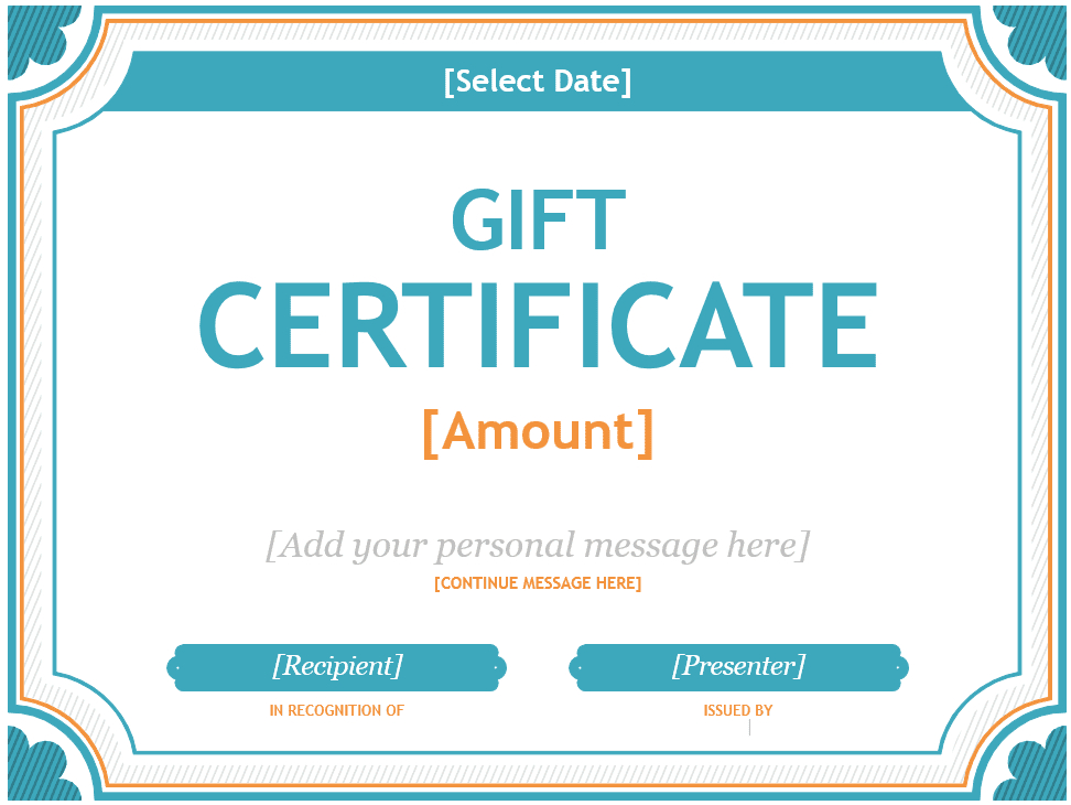 Free Gift Certificate Templates You Can Customize With Regard To Microsoft Gift Certificate Template Free Word