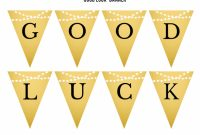 Free Gold Graduation Printables   Graduation Printables inside Good Luck Banner Template