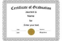 Free Graduation Certificate Templates | Customize Online within Free Printable Graduation Certificate Templates