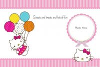 Free-Hello-Kitty-Blank-Invitation-With-Photo | Hello Kitty pertaining to Hello Kitty Birthday Banner Template Free