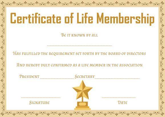 Free Membership Certificates: 14 Templates In Word Format for New Member Certificate Template
