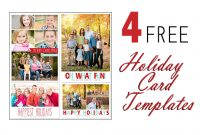 Free Photoshop Holiday Card Templates From Mom And Camera within Free Holiday Photo Card Templates