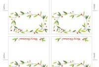 Free Place Card Template. | Christmas Card Templates Free with regard to Fold Over Place Card Template