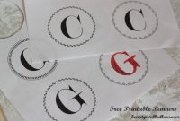 Free Printable Banner Templates: Alphabet With Different pertaining to Letter Templates For Banners