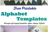 Free Printable Banner Templates: Alphabet With Different throughout Letter Templates For Banners