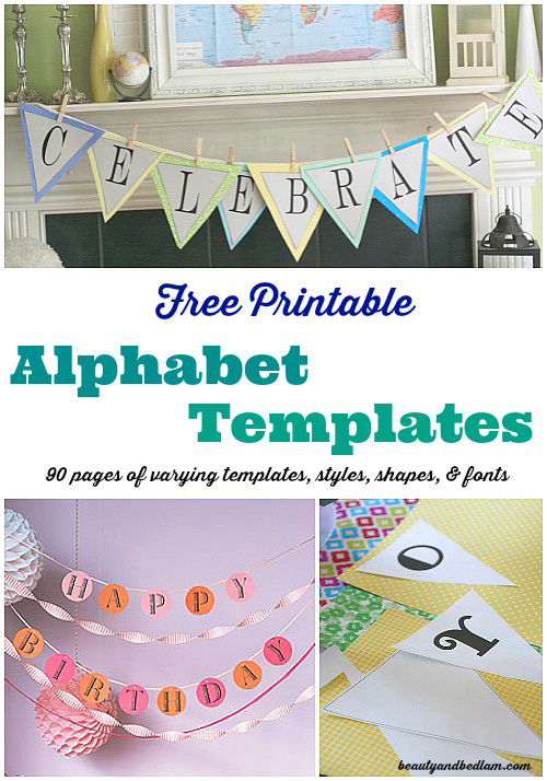 Free Printable Banner Templates: Alphabet With Different With Regard To Free Printable Pennant Banner Template