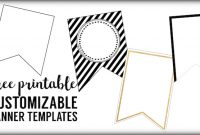 Free Printable Banner Templates {Blank Banners} | Paper pertaining to Free Printable Pennant Banner Template