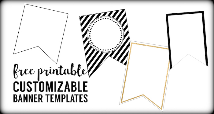 Free Printable Banner Templates {Blank Banners} | Paper with regard to Free Blank Banner Templates