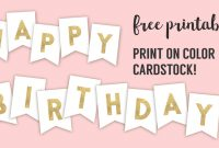 Free Printable Birthday Banner Ideas | Paper Trail Design regarding Diy Party Banner Template