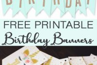 Free Printable Birthday Banners – The Girl Creative intended for Diy Party Banner Template
