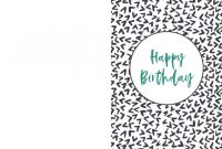 Free Printable Birthday Cards | Paper Trail Design | Happy within Template For Cards To Print Free