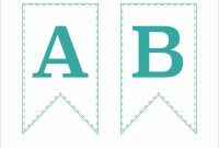 Free Printable Bunting Banner | Abby Lawson inside Letter Templates For Banners