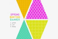 Free Printable Bunting Banner – Free Printable Bunting Flag inside Printable Pennant Banner Template Free