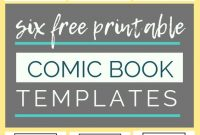Free Printable Comic Book Templates | Comic Book Template inside Printable Blank Comic Strip Template For Kids