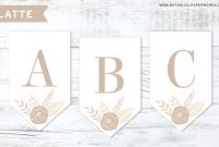 Free Printable} Floral Letter Banners Made With Seed Paper with regard to Christening Banner Template Free