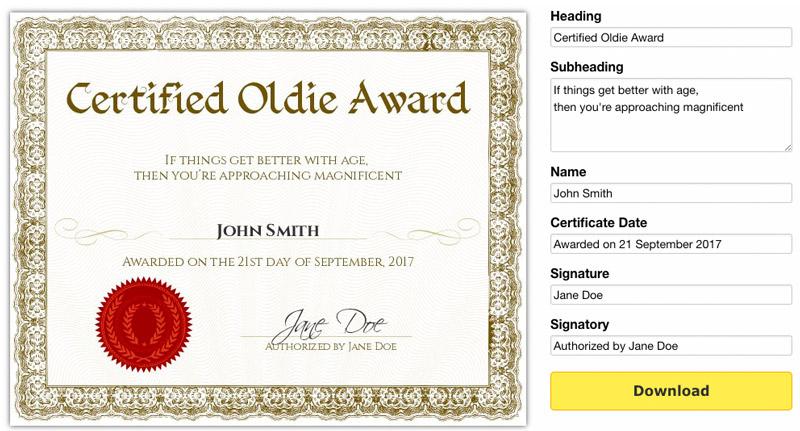 Free Printable Gag Certificates regarding Mock Certificate Template