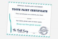 Free Printable Tooth Fairy Certificate, Receipt, Envelope in Tooth Fairy Certificate Template Free
