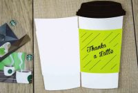 """Free Printables """"thanks A Latte"""" Cutout Gift Card Holder Gcg in Thanks A Latte Card Template"""