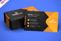 Free Psd : Modern Corporate Business Card Template Psd with regard to Template Name Card Psd