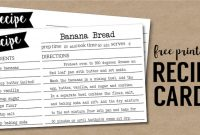 Free Recipe Card Template Printable   Paper Trail Design with Recipe Card Design Template