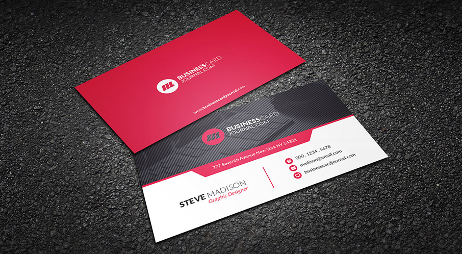Free Red Hot Contemporary Business Card Template intended for Free Complimentary Card Templates