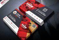 Free Restaurant Business Card Psdpsd Freebies On Dribbble with Food Business Cards Templates Free