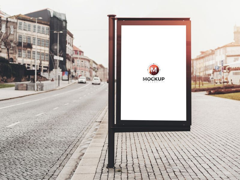 Free Road Side Outdoor Banner Billboard Mockup Psd For with Outdoor Banner Design Templates