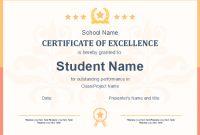 Free School Certificate Template inside Free School Certificate Templates