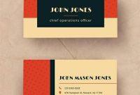 Free Vintage Business Card Template | Vintage Business Cards within Business Card Template Pages Mac