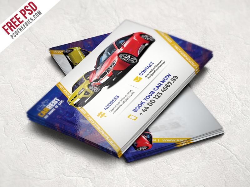 Freebie : Car Dealer Business Card Template Free Psdpsd With Transport Business Cards Templates Free