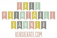 Freebie Friday :: Printable Banner | Free Printable Banner within Letter Templates For Banners