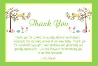 Fresh Baby Shower Thank You Cards - Babysof | Baby Thank You intended for Template For Baby Shower Thank You Cards