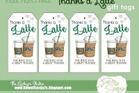 Fun Gift Ideas For Teacher Appreciation Week   Fit Active intended for Thanks A Latte Card Template