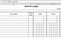 General Ledger Template And Free Download for Business Ledger Template Excel Free