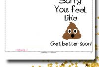 Get Well Card - Funny Get Well Soon Card - Printable Card - Feel Better  Soon Card with Get Well Soon Card Template