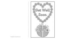 Get Well Soon Card Colouring Templates (Sb8890) - Sparklebox for Get Well Card Template