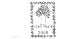 Get Well Soon Card Colouring Templates (Sb8890) – Sparklebox regarding Get Well Soon Card Template