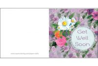 Get Well Soon Card | Free Printable Papercraft Templates for Get Well Soon Card Template