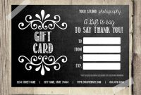Gift Card Printable Digital Gift Certificate intended for Gift Certificate Template Photoshop