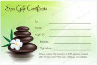 Gift Certificate 21 | Vales De Regalo, Certificados De for Spa Day Gift Certificate Template