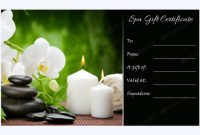 Gift Certificate 27 | Certificados De Regalo, Bonos De in Spa Day Gift Certificate Template