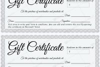 Gift Certificate 30 – Word Layouts | Gift Certificate With Regard To Microsoft Gift Certificate Template Free Word