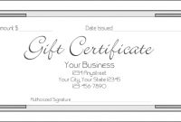 Gift Certificate Template 7 for Gift Certificate Template Indesign