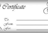 Gift Certificates Templates | Free Printable Gift for Custom Gift Certificate Template
