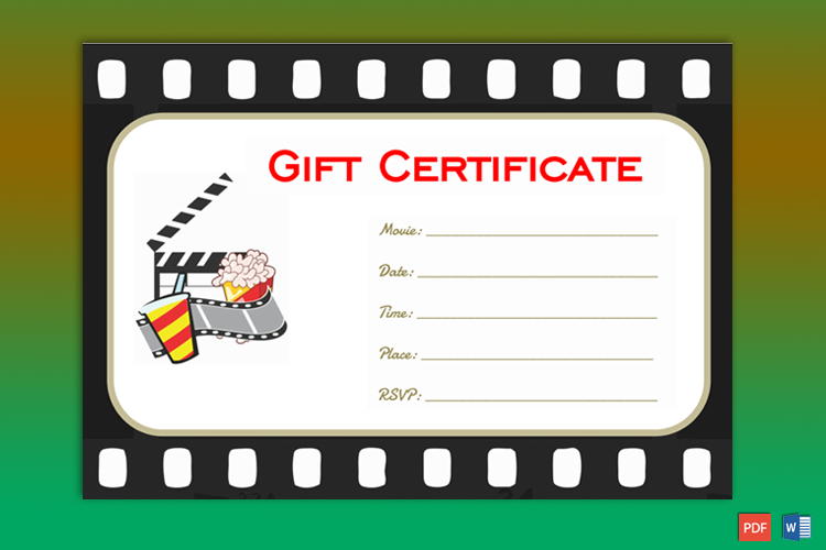 Go To Movie Gift Certificate Template - Gct in Movie Gift Certificate Template